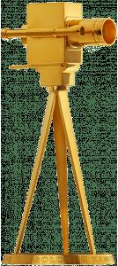 Trophäe: Die Goldene Kamera (925er Sterlingsilber mit 24-Karat-Feingoldbeschichtung)